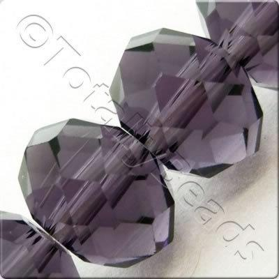 Crystal Rondelle 10x14mm - Purple