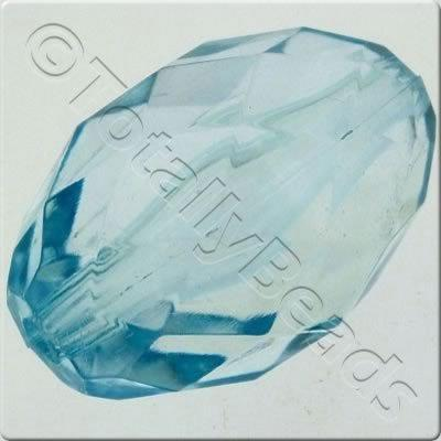 Acrylic Facet Rice 30mm - Aqua