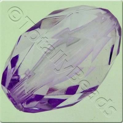 Acrylic Facet Rice 30mm - Lilac