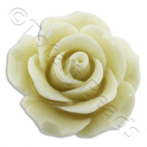 Acrylic Rose 25mm 1 Row - Vanilla