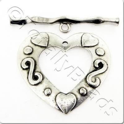 XL Heart 38mm A.Silv