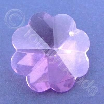 Glass Pendant Flower Pink - 26mm