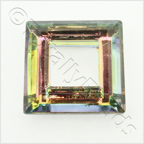 Glass Pendant Square 30mm - Rainbow