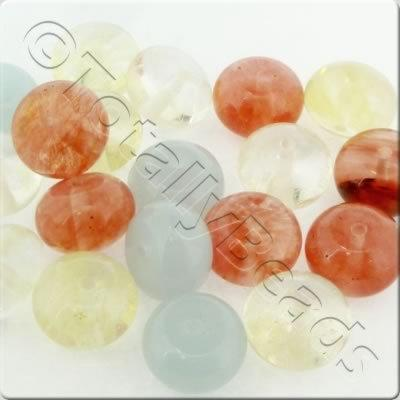 Bead Mix - 14x9mm Rondelle Mix 4 - 20pcs