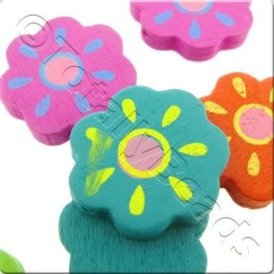 Childrens Wooden Bead - Sunshine Flower