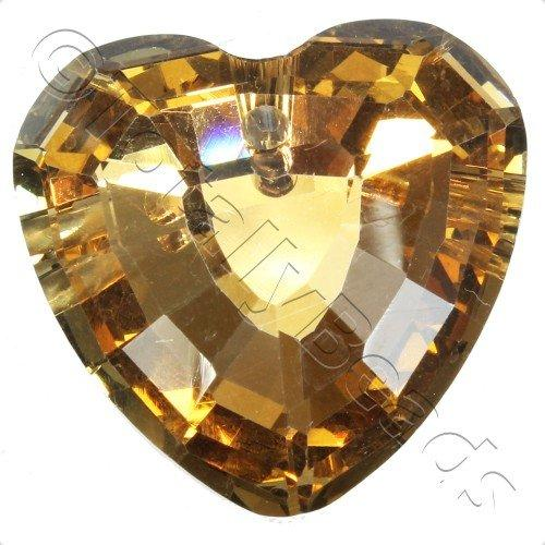 Crystal Pendant - Heart 33mm - Coffee B