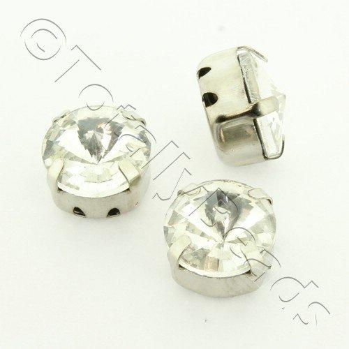 Sew on Crystal Rivoli 10mm - Clear