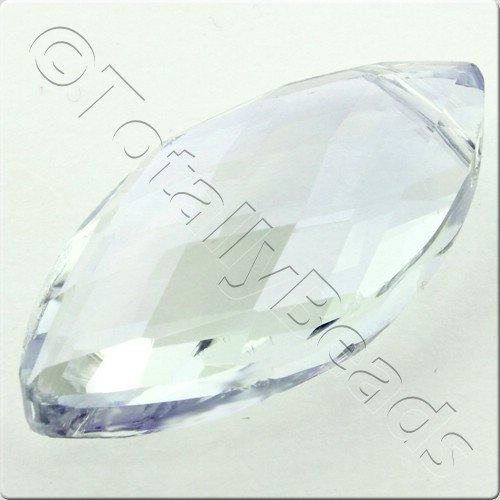 Crystal Eye Bead 32mm - Hint of Blue