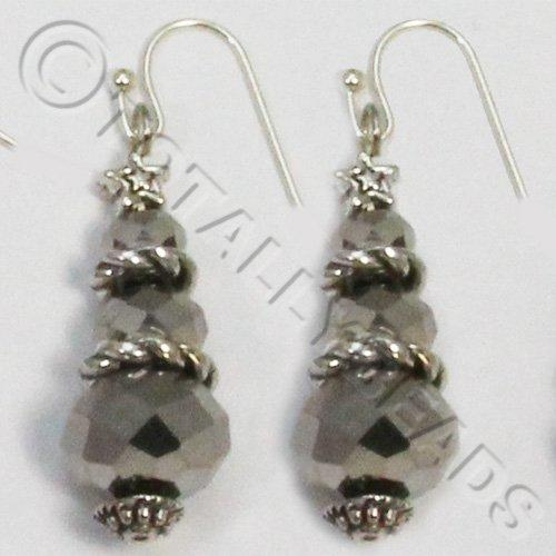 Christmas Tree Earrings - Silver