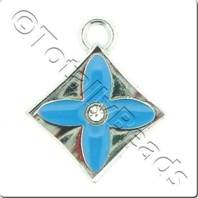 Enamel Charm - Diamond - Blue