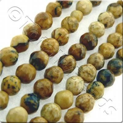 Picture Jasper 3mm Facet Round