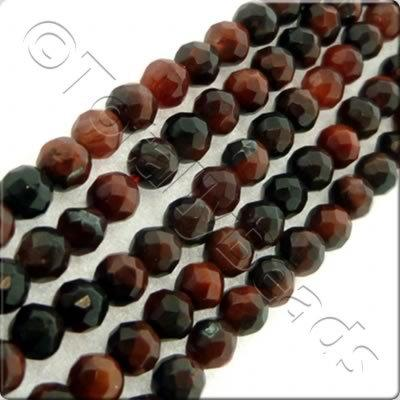Red Tiger Eye 3mm Facet Round