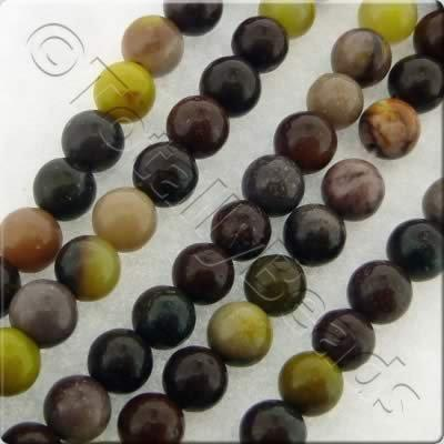 Mookaite Round Beads - 4mm