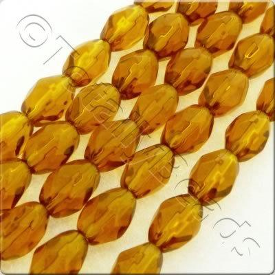 Glass Rice Beads - 9x6mm - Brown - 40pcs