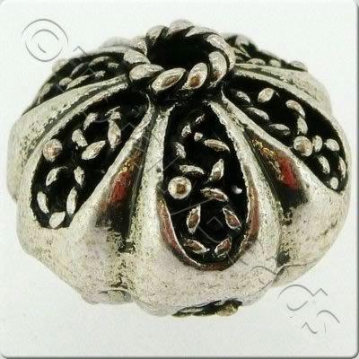 Tibetan Silver Bead - Hollow Pumpkin 15mm