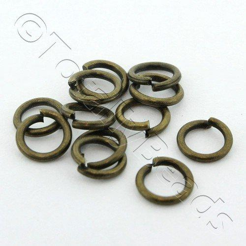 Jump Rings 6x1mm - Bronze