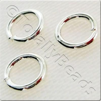 Jump Rings 6x1.5mm - Silver Plated