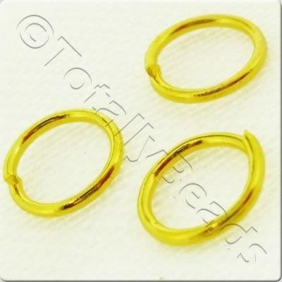 Jump Rings 7mm - Gold Plated