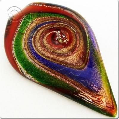 Lampwork Pendant - Shield 74mm - LPR17