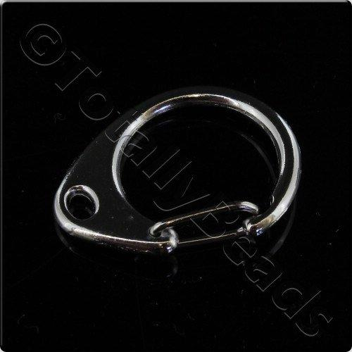 Bag Clasp Ring 25mm Rhodium 6pcs