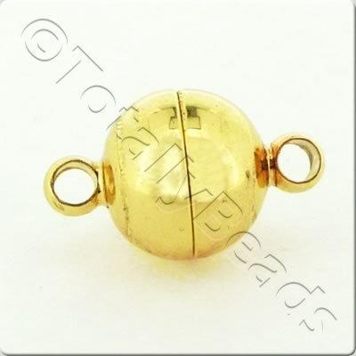 Magnetic Clasp - 14x8mm - Gold Plated
