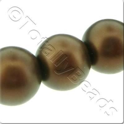 Glass Pearl Round Matt Finish - Bronze