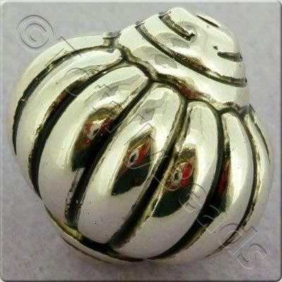 Acrylic Antique Silver Bead - Lantern 27mm