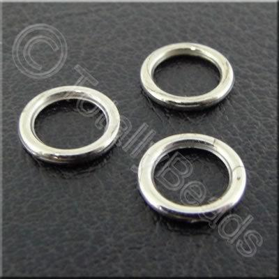Metalised Acrylic Ring 9mm - Round Antique Silver 200pcs