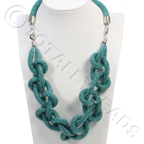 Loop Mesh Necklace - Turqoise