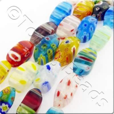 Millefiori - Twist 8x16mm - Mixed