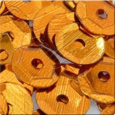 Sequins - 6mm Cup - Metallic Burnt Orange