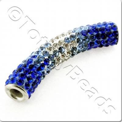 Shamballa Spacer Tube 40-50mm - DarkBlue-Blue-Clear