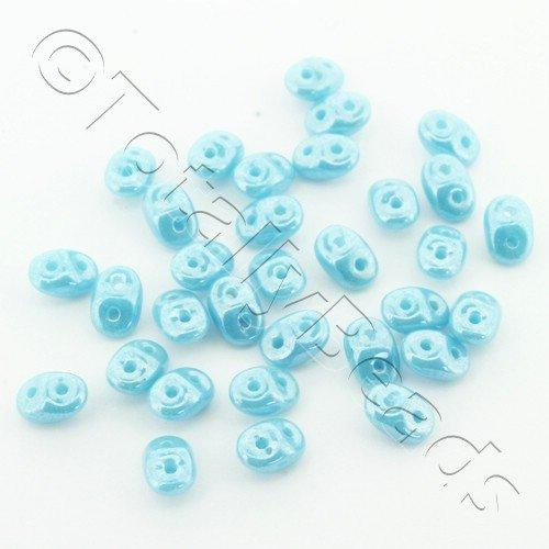 Superduo 2.5x5mm 10g - Luster Turquoise Blue