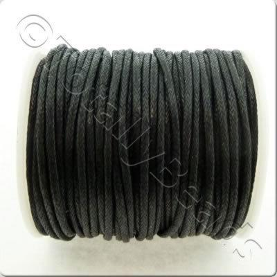 Wax Cotton Cord 1.5mm - Black