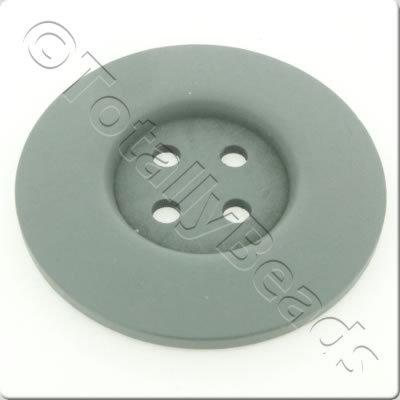 Wooden Button 60mm - Grey