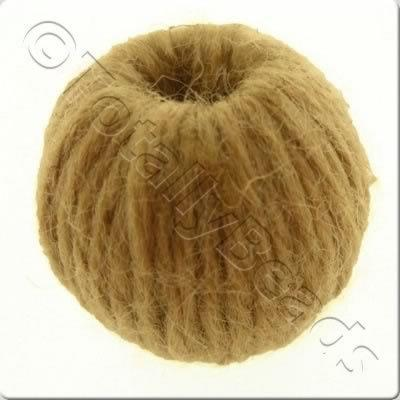 Wool Bead 22mm - Light Brown