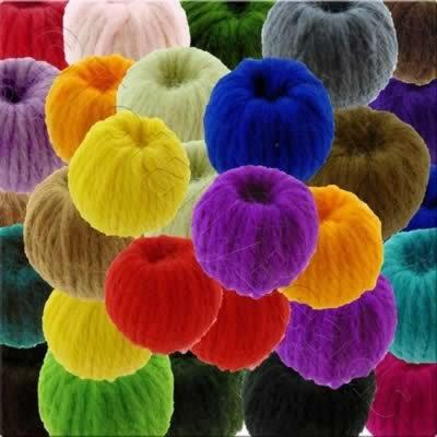 Wool Bead 22mm - 10 Mixed Pack