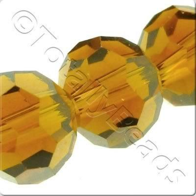 Crystal Round 8mm - Brown