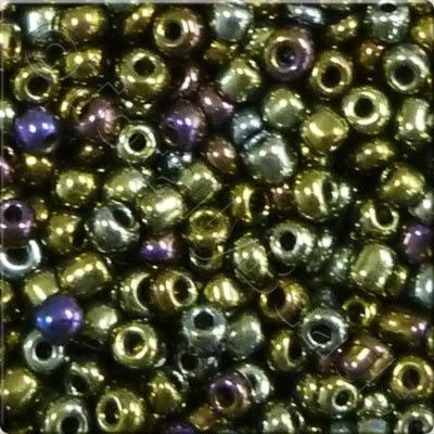 Seed Beads Opaque Rainbow  Iris - Size 11