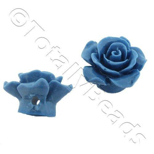Acrylic Rose 15mm 1 Row - Blue 4pcs