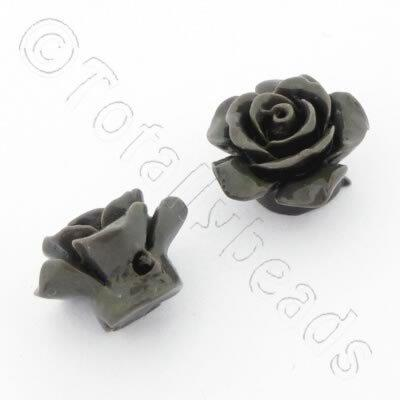 Acrylic Rose 15mm 1 Row - Grey 4pcs