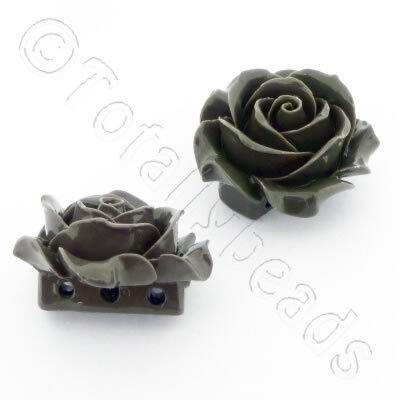 Acrylic Rose 35mm 3 Rows - Grey