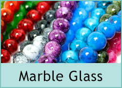Marble Glass Beads