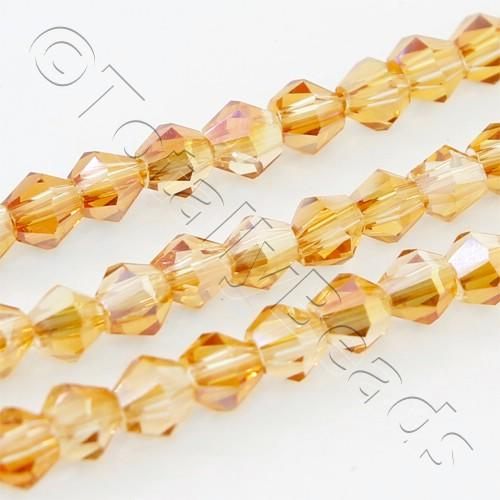 Crystal Bicone 3mm - Half Orange