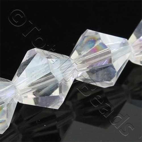 Crystal Bicone 10mm - Crystal AB 30pcs