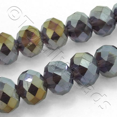 Crystal Rondelle 8x10mm - Purple Shimmer