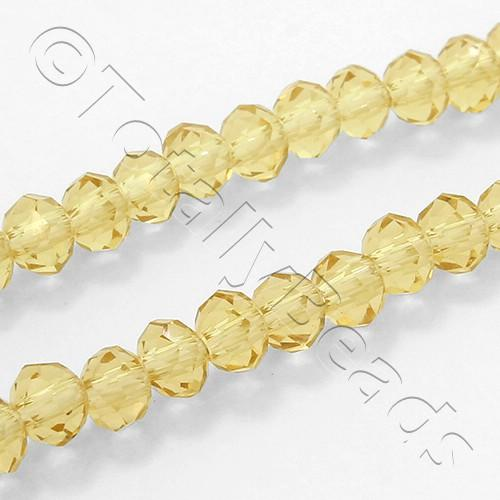 "Crystal Rondelle 3x4mm - Light Topaz 16"" String"