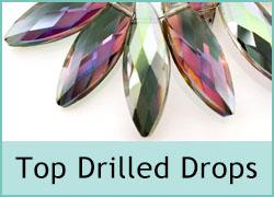 Crystal Top Drilled Drops
