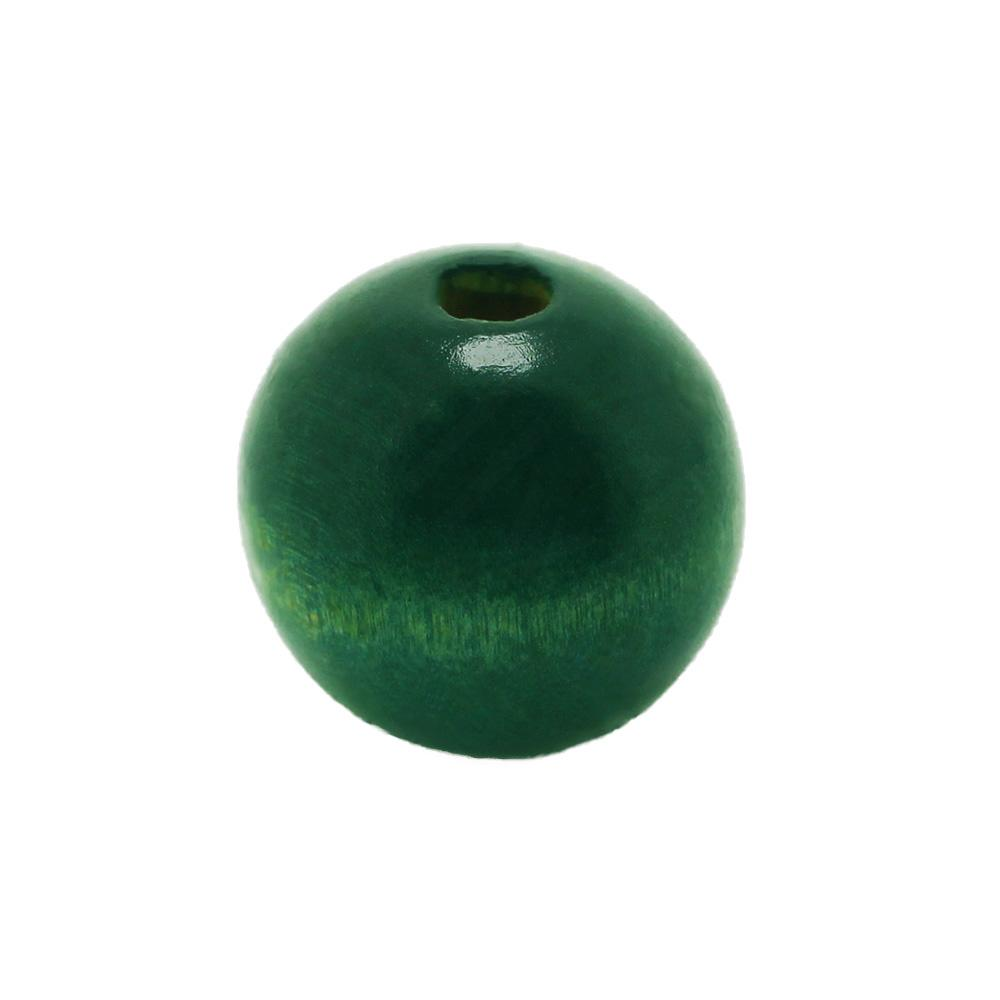 Wooden Bead - Round 20mm Teal