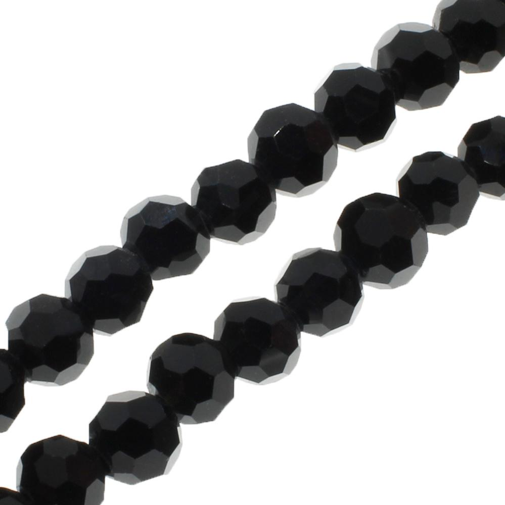 Crystal Round 6mm - Jet Black 90pcs